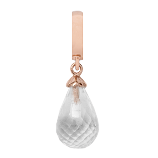 Christina Collect Crystal Quarts Drop rosa charm